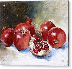 Pomegranate Acrylic Print by Tanya Jansen