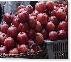 Pomegranates At Jerusalem's Old City Market Acrylic Print
