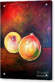 Pomegranates From My Garden Acrylic Print by Anastasis  Anastasi