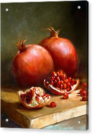 Pomegranates Acrylic Print by Robert Papp