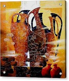 Pomegranates Acrylic Print by Yelena Revis
