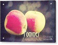 Pommes Acrylic Print by Angela Doelling AD DESIGN Photo and PhotoArt