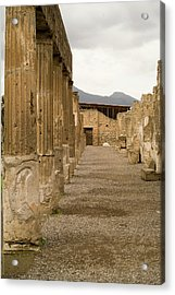 Acrylic Print featuring the photograph Pompeii Columns by Michael Flood