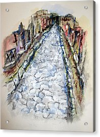 Pompeii Road Acrylic Print by Clyde J Kell
