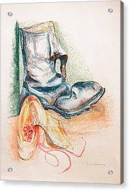 Pompes Acrylic Print by Muriel Dolemieux