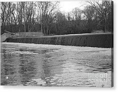 Pompton Spillway In January Acrylic Print