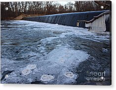 Pompton Spillway In Winter 2 Acrylic Print