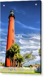 Acrylic Print featuring the painting Ponce De Leon Lighthouse by Christopher Arndt