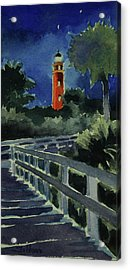 Ponce Inlet Lighthouse Before Dawn 7-5-17 Acrylic Print