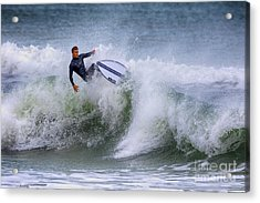 Acrylic Print featuring the photograph Ponce Surf 2017 by Deborah Benoit