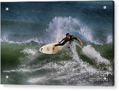 Acrylic Print featuring the photograph Ponce Surfer 2017 by Deborah Benoit