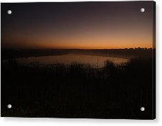 Pond And Cattails At Sunrise Acrylic Print