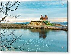 Pond And Geyser Acrylic Print