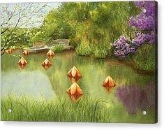 Pond At Olbrich Botanical Garden Acrylic Print