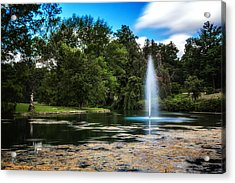 Pond At Spring Grove Acrylic Print by Tom Mc Nemar