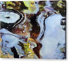 Pond Currents Acrylic Print by Anita Stoll