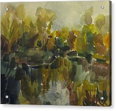Pond Acrylic Print by Darya Gavroff