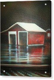 Pond House Acrylic Print by Scott Easom