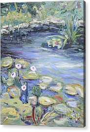 Pond In Berlin Acrylic Print by Barbara Anna Knauf