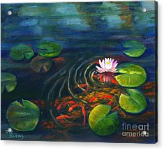 Pond Jewels Acrylic Print by Pat Burns