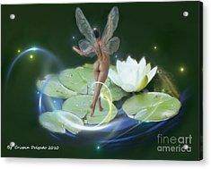 Pond Lilies Acrylic Print by Crispin  Delgado
