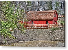 Acrylic Print featuring the photograph Pond Overlook 2 by Greg Jackson