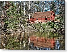 Acrylic Print featuring the photograph Pond Overlook by Greg Jackson