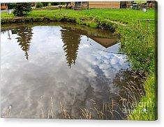 Pond Reflections Acrylic Print by Pamela Walrath