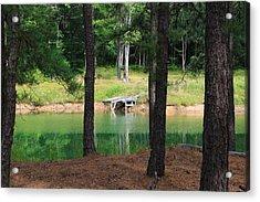 Pond Side Dock Acrylic Print