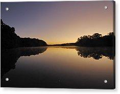 Pond Sunrise Acrylic Print by Mimi Katz