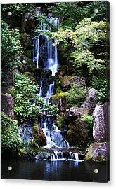 Pond Waterfall Acrylic Print