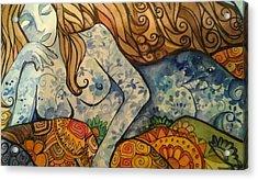 Ponder Acrylic Print by Claudia Cole Meek