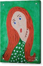 Pondering Redhead Acrylic Print by Jeannie Atwater Jordan Allen