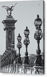 Pont Alexander IIi Detail Bw Acrylic Print