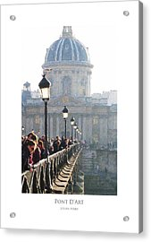 Acrylic Print featuring the digital art Pont D'art by Julian Perry