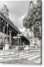Pont De Bir-hakeim, Paris, France Acrylic Print