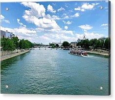 River Seine At Pont Du Carrousel Acrylic Print