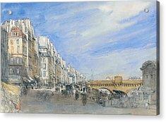 Pont Neuf From The Quai De L'ecole, Paris Acrylic Print by David Cox