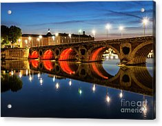 Acrylic Print featuring the photograph Pont Neuf In Toulouse by Elena Elisseeva