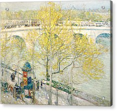 Pont Royal Paris Acrylic Print by Childe Hassam