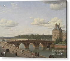 Pont Royal Seen From Quai Voltaire, 1812 Acrylic Print