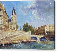 Pont Saint Michel, Paris Acrylic Print