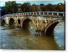 Ponte Sisto Bridge Rome Acrylic Print