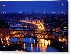 Ponte Vecchio At Twilight Acrylic Print