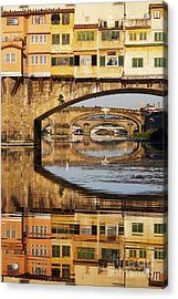 Ponte Vecchio Crossing The River A Acrylic Print by Jeremy Woodhouse