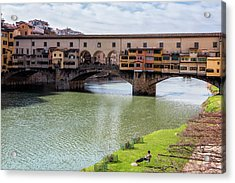 Acrylic Print featuring the photograph Ponte Vecchio Florence Italy II by Joan Carroll