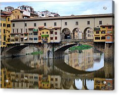 Ponte Vecchio Reflects. Acrylic Print by Terence Davis