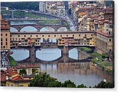 Ponte Vecchio Acrylic Print by Terence Davis