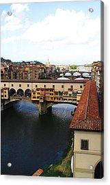 Ponte Vechio Florence Acrylic Print by Mathew Lodge