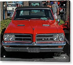 Acrylic Print featuring the photograph Pontiac Gto by Dodie Ulery